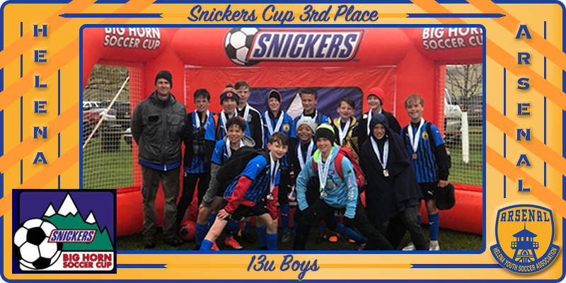 13U Boys Snickers Team Pic